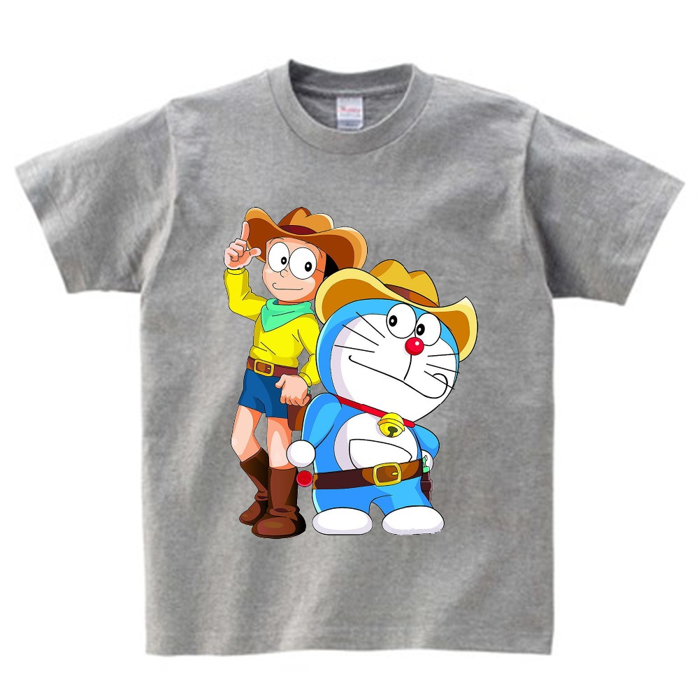 2019 Japanese Tee Shirt Children 39 s Cartoon Doraemon T Shirt Boy and Girl Summer O neck Short Sleeve Tops Tees for Baby YUDIE in T Shirts from Mother amp Kids
