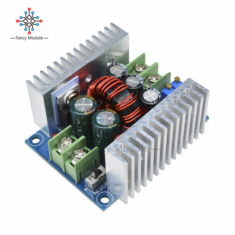 300 W 20A DC-DC Buck Converter Step Down Módulo de Corrente Constante Driver LED Power Step Down Módulo de Tensão Capacitor Eletrolítico