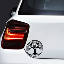 15cm*15cm Character Flower Shaped Cartoon Fun Tree Vinyl Car Sticker Design Of The New Tide Window Decal