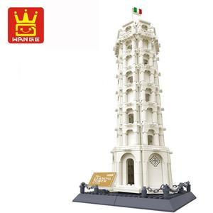 Image 1 - Wange 8012 Pisa Leaning Tower Building Block Structure Building Blocks Kids Educational Toy Wange Block Gift Toys For Children
