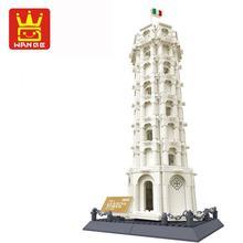 Wange 8012 Пизанская башня, строительные блоки, строительные блоки, детские развивающие игрушки, Wange Block, Подарочные игрушки для детей