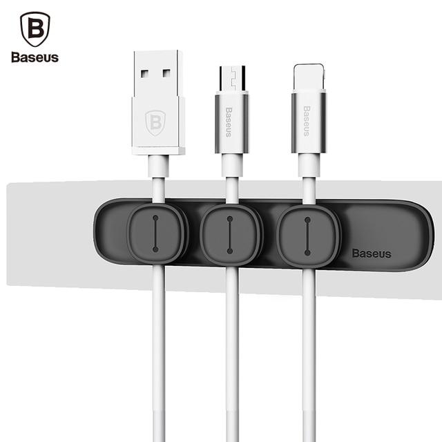 Baseus Peas Magnetic Cable Clip USB Cable Organizer Clamp Desktop ...