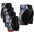 Wolf Printing Men's Shorts Compression Quick Dry Absorption Breathable Skinny Shorts MMA