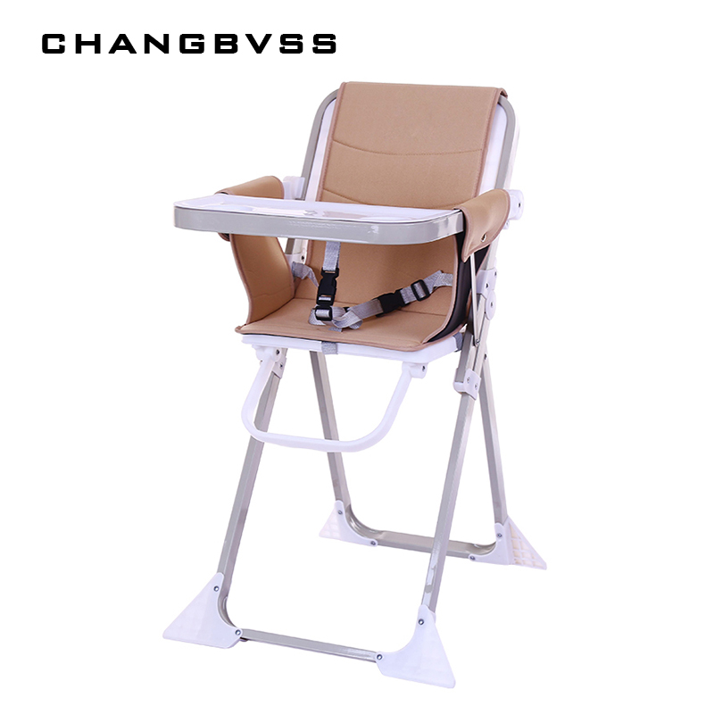 2018 New Simple Portable Adjustable Mommy Feeding Chair Safty Anti-Slip Baby Chair For 6-60M Kids Infant High Chair poltrona the silver chair