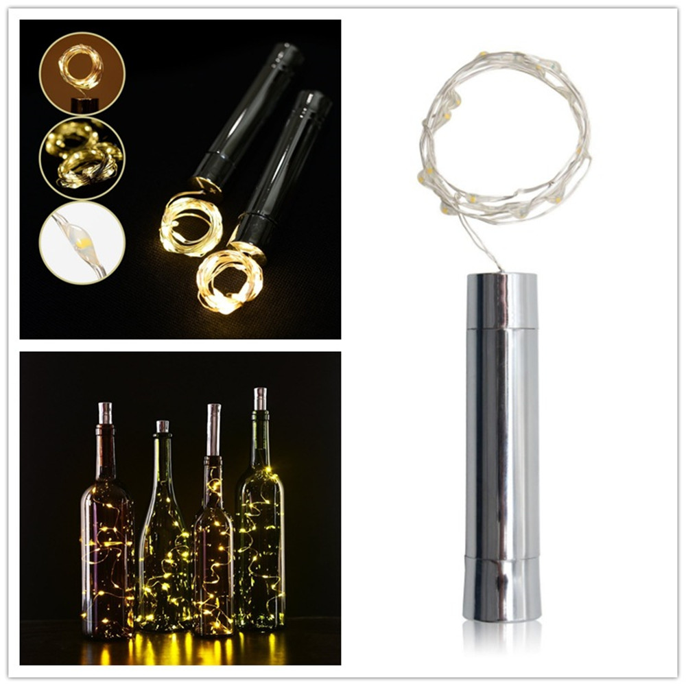 Image 2 - ECLH 1*AA battery power Warm white Bottle Lights LED Cork Shape String Lights for Bistro Wine Bottle Starry Bar Party Valentines-in Novelty Lighting from Lights & Lighting