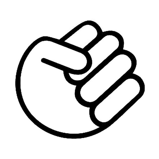 13cm111cm Jdm Fist Punch Hand Funny Car Window Decal Bumper