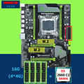 HUANAN ZHI X79 Pro con doble M.2 ranuras descuento placa base con CPU Intel Xeon E5 2660 SR0KK RAM 16G (4*4G) RECC