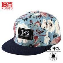 Корейская версия шляпе ВЫГЛЯДЫВАЕТ вышивка патч цветок печати бейсболка плоские шляпы хип-хоп шляпа мужчин и женщины оптовая