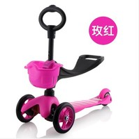 Triple Scooters Children Scooters Walker 3 Line Skating Spin Car