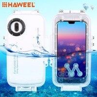 HAWEEL 40m/130ft Waterproof Diving Housing Photo Video Taking Underwater Cover Case for Huawei P20