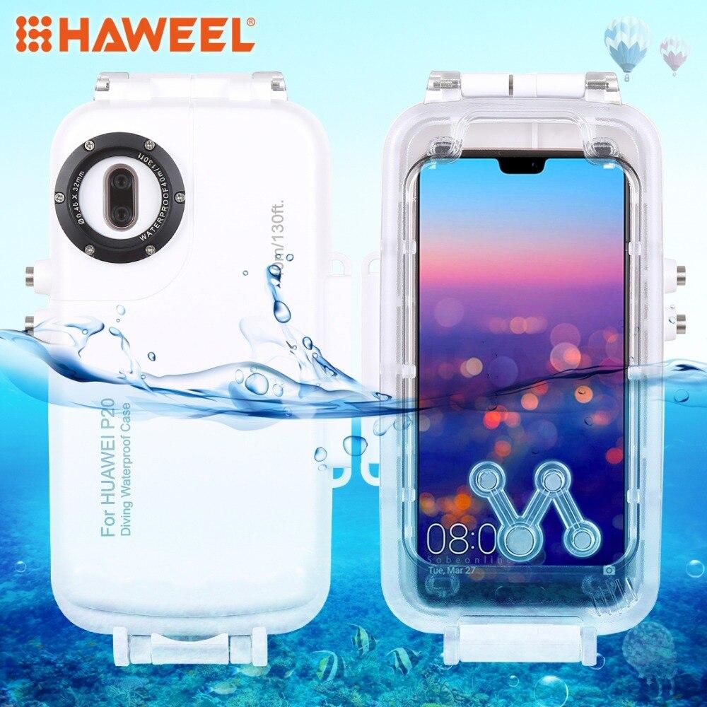 HAWEEL 40 m/130ft boîtier de plongée étanche Photo vidéo prenant étui pour huawei P20