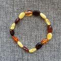Special de manera única 100% real natural báltico ámbar pulseras oval beads pulseras de la vendimia para los regalos de la mujer
