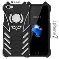 I7 i7 plus case para iphone 7/7 plus, armaduras pesadas de poeira de metal cnc alumínio batman proteger telefone cabeça de esqueleto case + suporte de batman