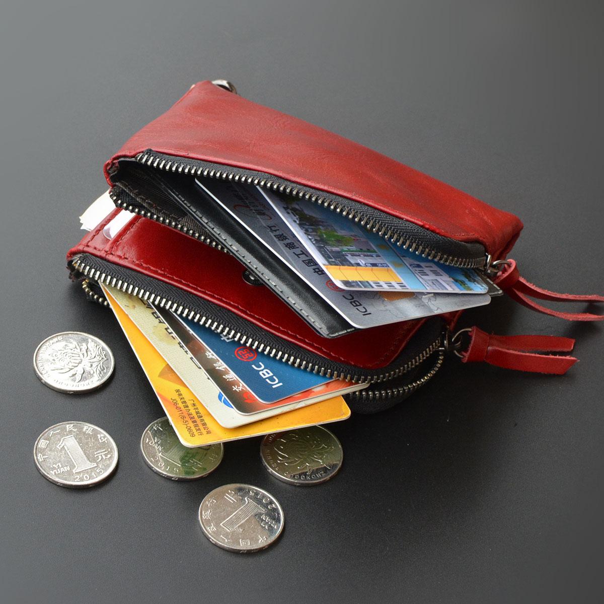 font b women b font genuine leather font b wallet b font mini cowhide coin