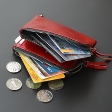 women genuine leather wallet mini cowhide coin purse bag short ladies purse