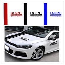 Универсальные ПВХ автомобильные наклейки WRC в полоску виниловые покрытия для автомобилей гоночных видов спорта наклейка на голову автомобиля Наклейка для всех автомобилей