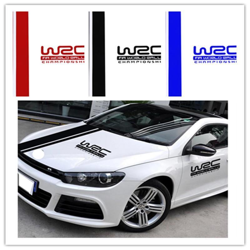 Universal PVC Car Sticker WRC Stripe Car Covers Vinyl Racing Sports Decal Head Car Sticker for All Cars