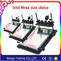 Solo Tamaño Pequeño Máquina de Serigrafía Manual de Impresión Equipo de Impresión de Pantalla Tablero de 240 MM x 300 MM Un Total de Tres Tamaños elección
