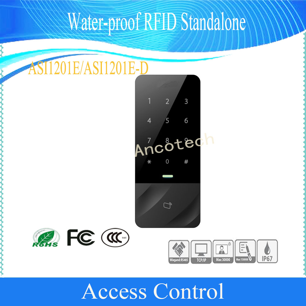 Original DAHUA Free Shipping Water-proof Access Control Slim Water-proof RFID Reader Watch Dog Function DHI-ASI1201E