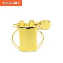 Bakelite Mouthpiece gold-plated Ligature Clip Butterfly Ligature Clip Steel wire Ligature Clip for Alto/ Tenor/Soprano Saxophone все цены