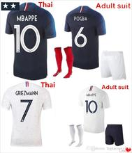 3f3322d88aa French adult kit pogba soccer Jersey 2 stars 2018 World Cup PAYET DEMBELE  MBAPPE GRIEZMANN KANTE