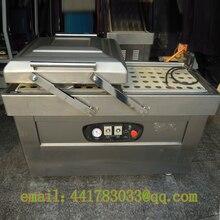DZ-400 / 2S stainless steel double chamber vacuum packaging machine Continuous Vacuum Packaging Machine Food vacuum machine