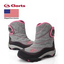 Отправлен из США Clorts женские зимние ботинки теплые уличные походные ботинки водонепроницаемые туристические ботинки SNBT-203