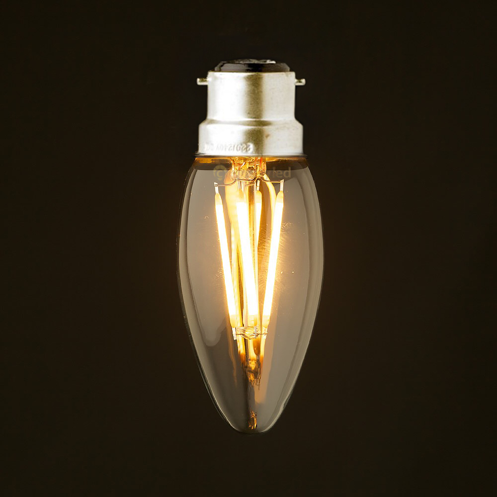 Led Bulbs & Tubes C35 2w 4w 6w,b22 Bayonet Base,retro Led Ampoule Filament Bulb,220-240vac,cool Warm White,chandelier Candle Lamps,dimmable