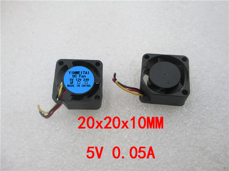 3D Printer Parts Reprap 2010 Fan 20x20 20mm 5V 3-wire Mini Brushless DC Axial Flow Mini Computer Cooling Fan Mini Fan