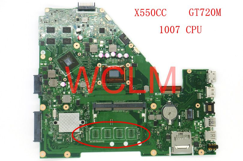 X550CC With 1007 CPU GT720M N14M-GE-S-A2 mainboard For ASUS X550C X550CC Y581C Laptop motherboard 60NB00W0-MBM000 69N0PHM1JA02 free shipping laptop motherboard for x75vc motherboard x75vb main board 60nb0240 mb1020 n14m ge s a2