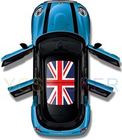 2016 latest design uk flag panoramic roof sticker car sunroof film reusable removable adhesive decal sticker made in avery