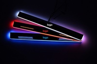 eOsuns LED moving door scuff Nerf Bars & Running Boards door sill plate overlays linings for Hyundai i40, moving light