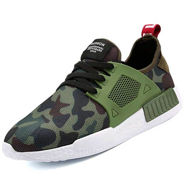 XX Marque Chaussures de Course Air Respirant Sport Chaussures Hommes Militaire Camouflage Sneakers Plat Marche Superstar