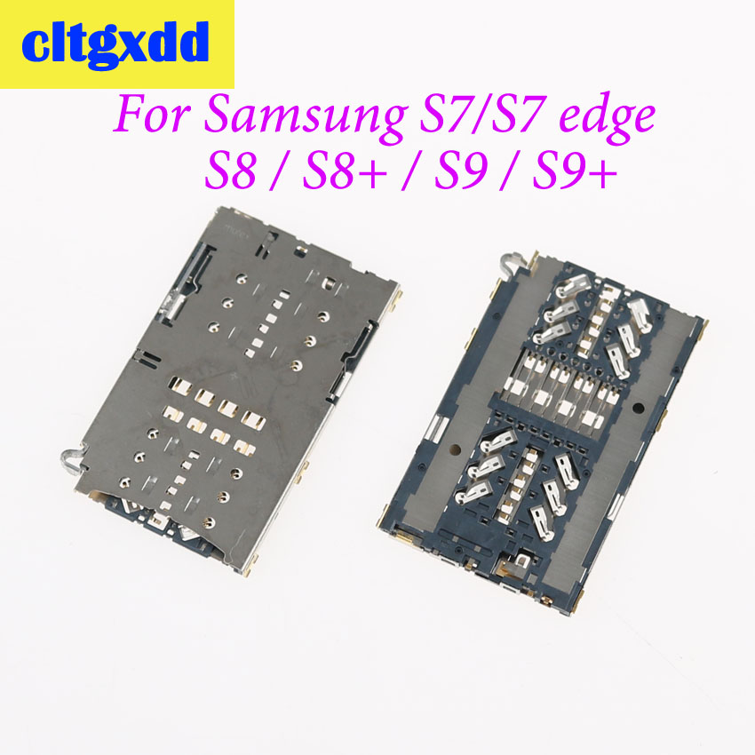 cltgxdd SIM Card Socket Reader Slot tray Holder Connector For Samsung Galaxy S7 edge G930A G930V S8 S8+ G9500 G9350 G9550 S9 S9+(China)