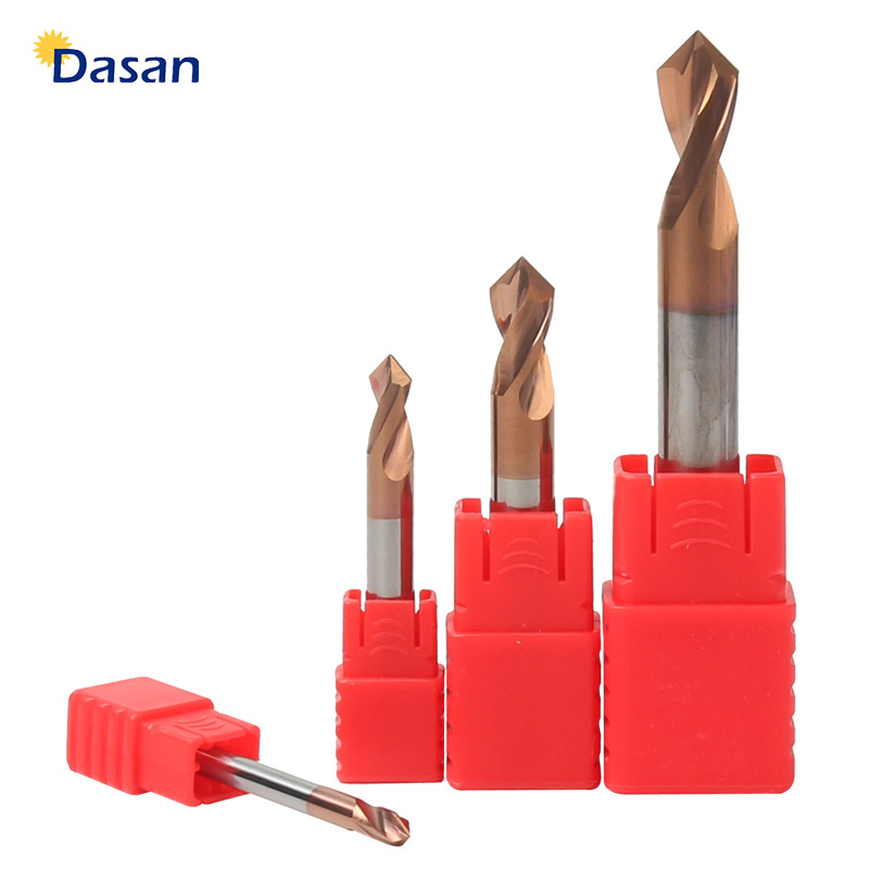 1PC HRC55 3MM 4MM 5MM 6MM 8MM 10MM 90 Degree Spot Drill Bit For Machining Hole Drill Chamfering Tools Tungsten Carbide Steel