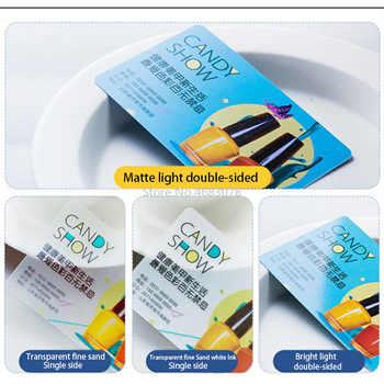 PVC Business Card Personalized Design 200pcs/500pcs Matte Face/White ink Transparent Plastic Business Card Printing 85.5*54mm