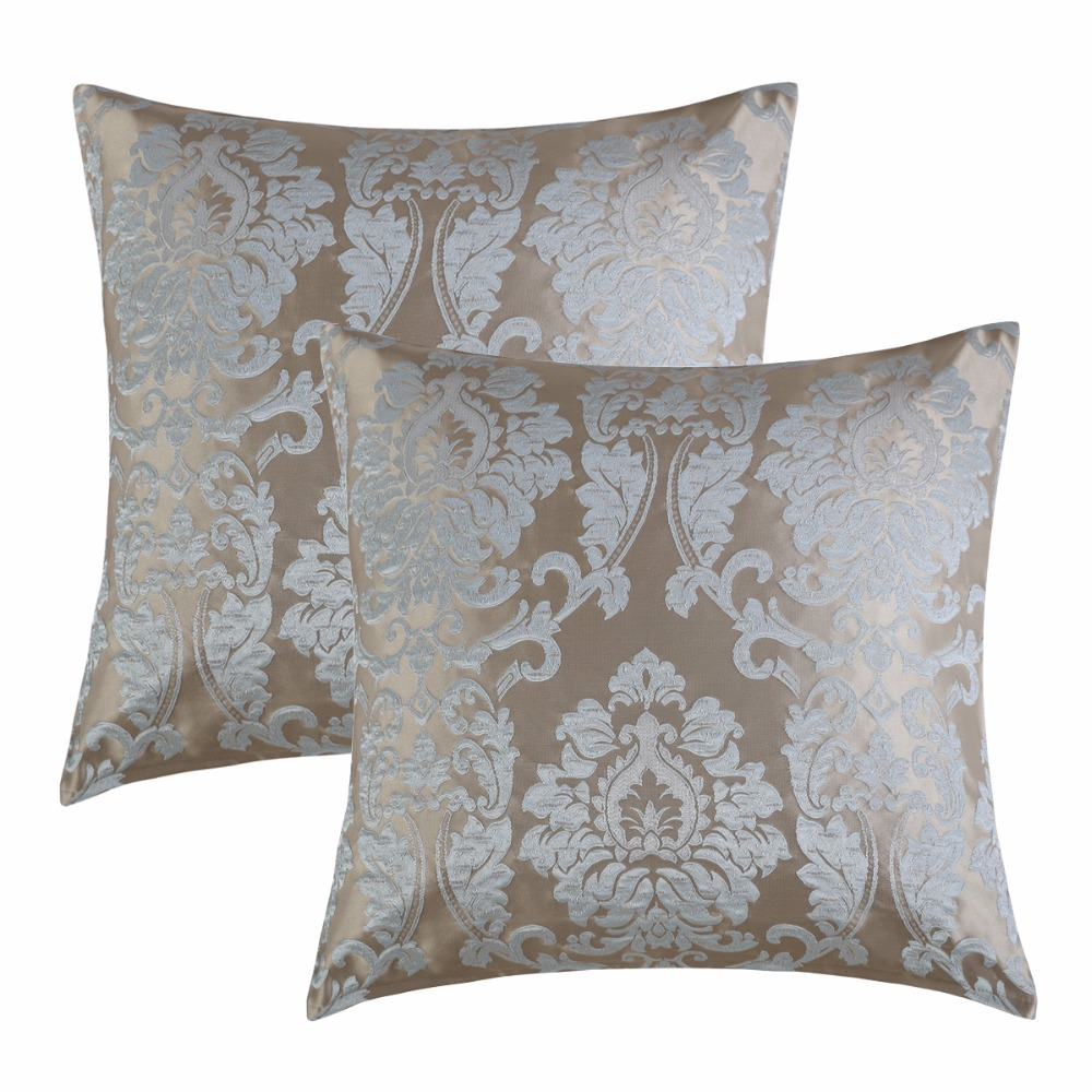 2 Pack Firfly jacquard fabric Wholesales Pillow cushion silver grey blue Cushion cover floral Home Decorative 45x45cm/50*50cm