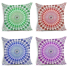 2018 Hippie Mandala Polyester Cushion Cover Geometric Bohemian India Style Home Decorative Pillows for Sofa Paisley Nordic