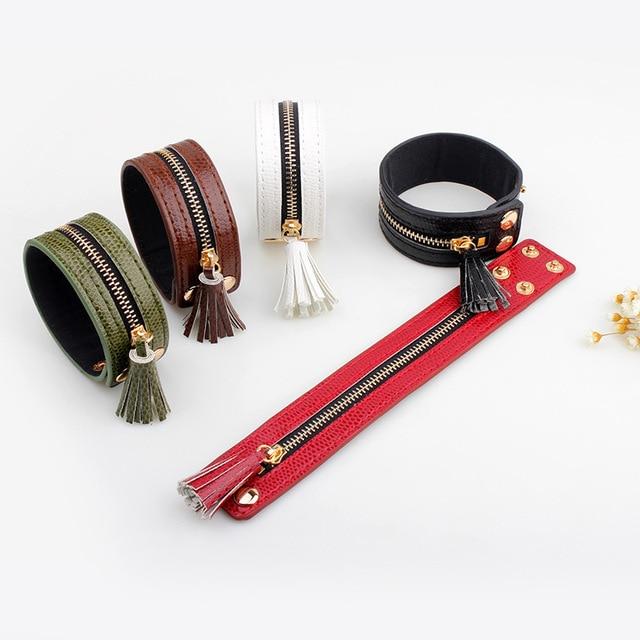 Купить браслеты и браслеты janeyacy кожаные на молнии модные женские картинки