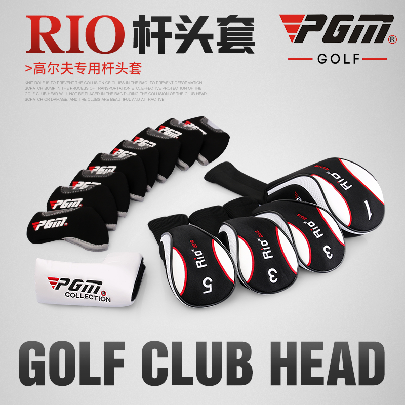 Golf 2017 Golf Club Headcover 1# Driver 3# Wood Putter Golf Iron Head Covers Set Headcover Fit All Brands
