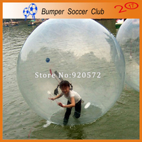 Free shipping ! 0.8mm PVC Transparent Water Walking Ball Funny 1.5m Inflatable Water Ball For Sale Aqua Zorbing Ball