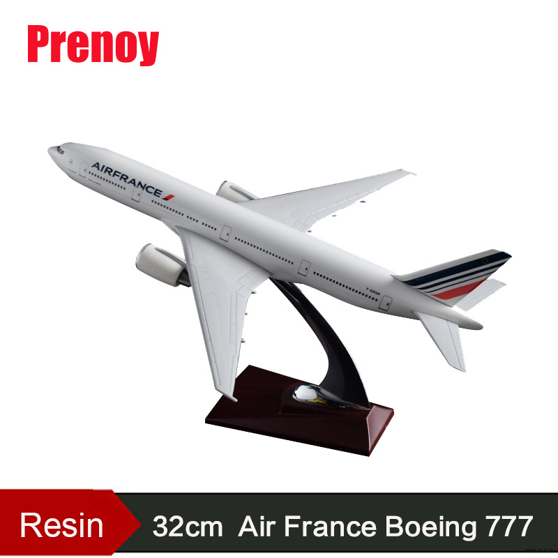 32cm French Airline Airplane Model Air France Boeing 777 Airway Airbus Model B777 France International Aircraft Model Collection 1 400 jinair 777 200er hogan korea kim aircraft model