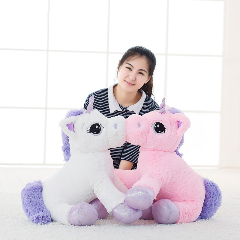 65CM Unicorn Plush Toy Cartoon Unicorn Soft Plush Animal Horse Stuffed Animal Toy Baby Children Birthday Gifts