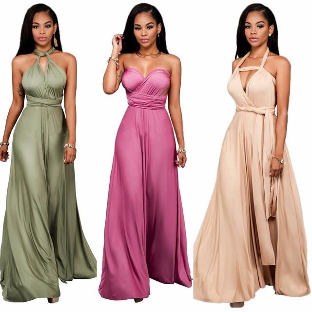 plus size Sexy club dress Elegant backless satin long dress Women ...