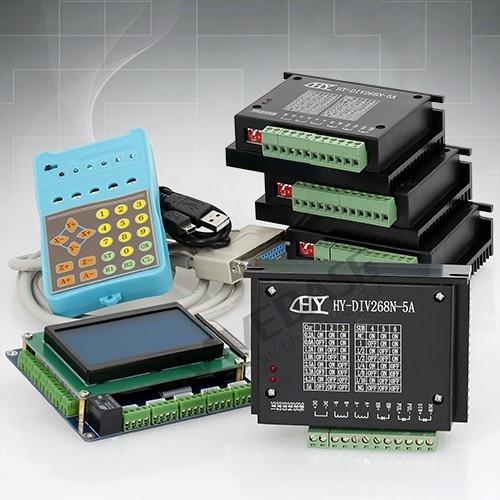 CNC 4 Axis Kit Professional Breakout Board Display Keypad TB6600HG Drivers 5A