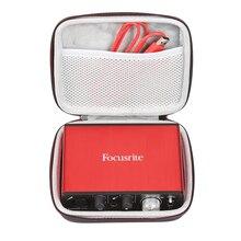 Новый жесткий чехол для путешествий EVA, портативный чехол для Focusrite Scarlett Solo (2-го поколения), 2 входа, 2 выхода, звуковой интерфейс USB