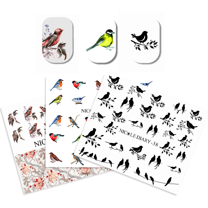 3 Sheets Water Decal Nail Art Transfer Stickers Set Flower Animal Pattern DIY Manicure Sticker Tips Decorations Styling Decal велосипед haro flightline one 2015