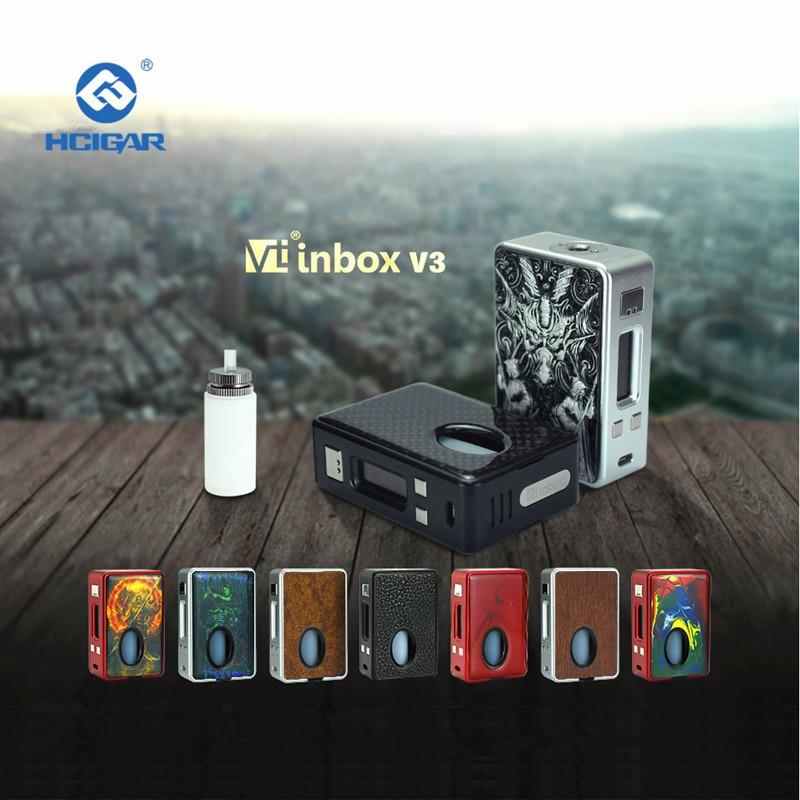 Hcigare VT inbox V3 squonk Mod boîte sortie 1-75 w vaporisateur Evolv DNA75 puce alimentée 18650 batterie elektronik sigara mod