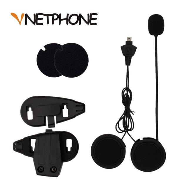 2016 Venta Caliente Casco Capacete Auricular Altavoz Micrófono Y Soporte de Casco Clip de La Motocicleta Bluetooth Intercomunicador Vnetphone V5