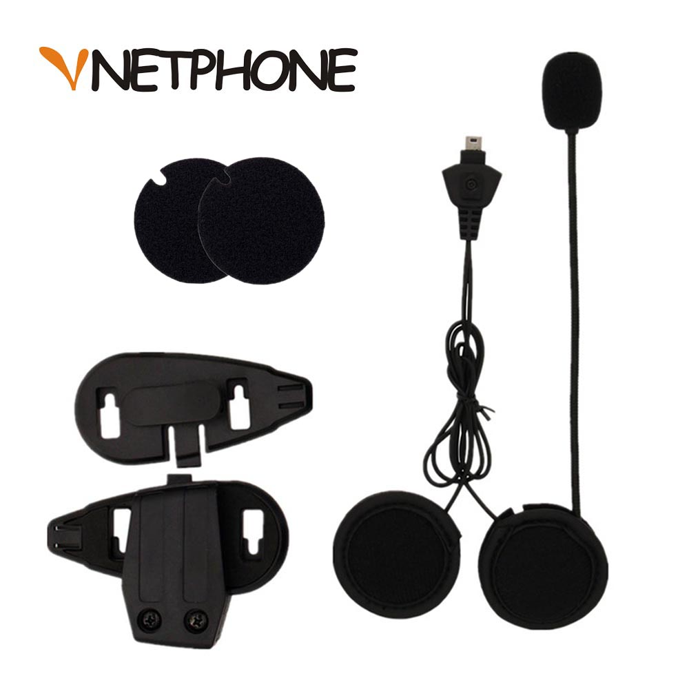 2017 Venta Caliente Casco Capacete Micrófono Altavoz Auricular Y Casco Clip de Soporte para Motocicleta Bluetooth Intercom Vnetphone V5